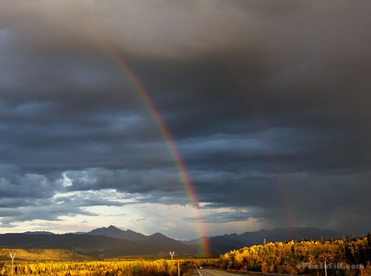 Double Rainbow on Parks Highway, Alaska