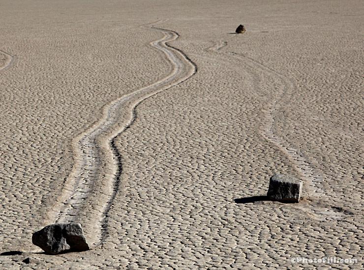 Rock Slide, Racetrack Playa, Death Valley, CA